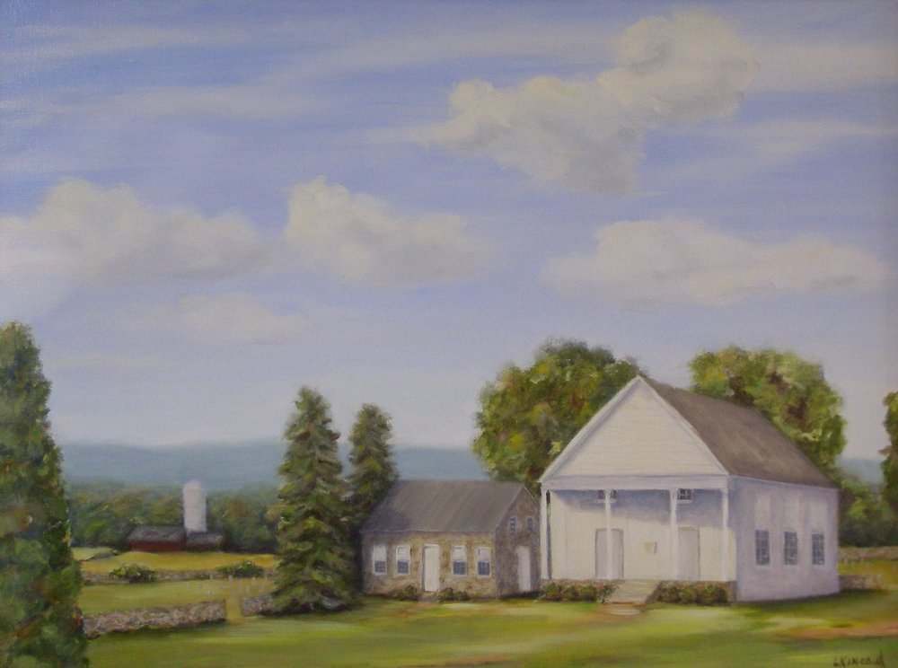 Ebenezer Church; oil on canvas; 18 x 24;   NFS