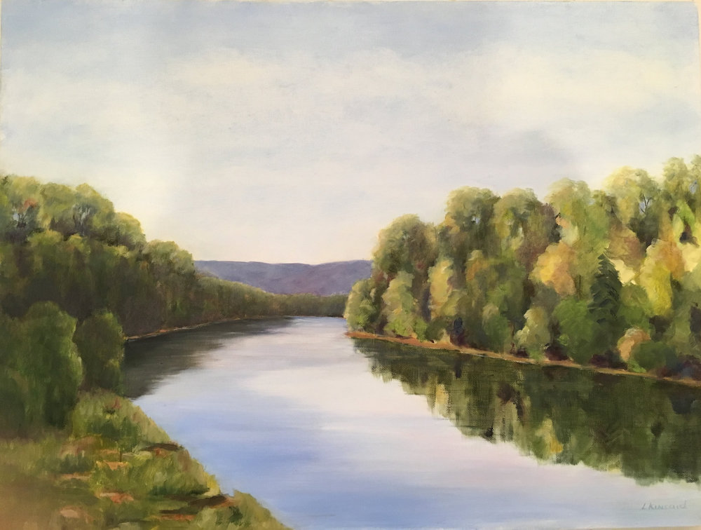 Summer, Shenandoah River; oil on canvas; 18 x 24