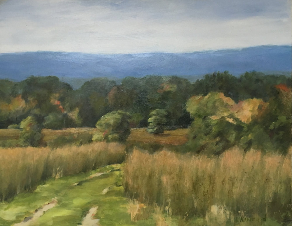 Road to the Lower Field; oil on canvas; 11 x 14