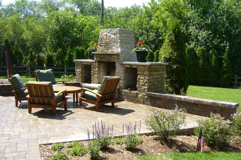 Patio firepits outside highland park chicago gas and wood