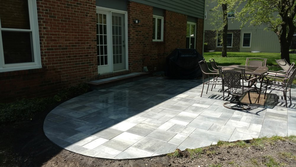 New Outdoor Patio Paver Design and Installation in Deerfield, IL