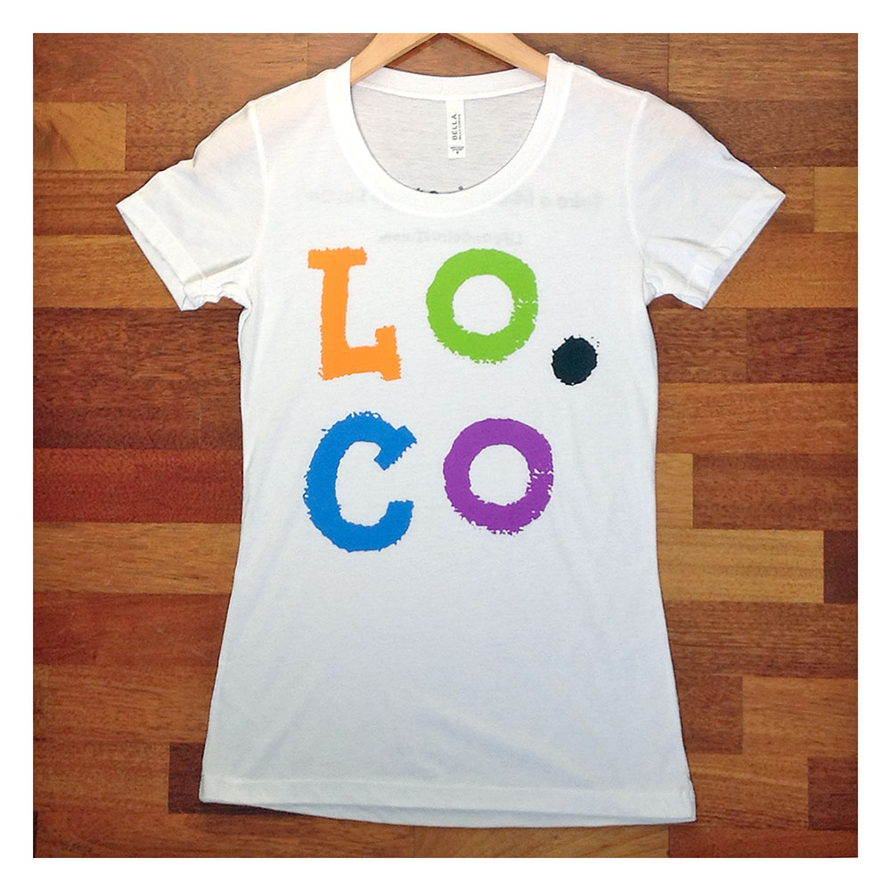 Lo.Co Initials Women's White T-shirt - Small - 29