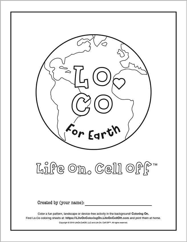 Click here   to download a high resolution .pdf file of this Earth Day coloring sheet. #LifeOnColoringOn