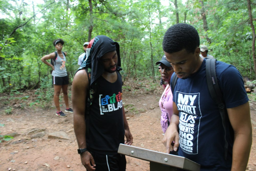 Planning well for a beginner means sticking to trails that are easy to navigate. Plus one for trails that have maps to keep you grounded! @ East Palisades Trail, Chattahoochee River Nat'l Rec Area in Atlanta