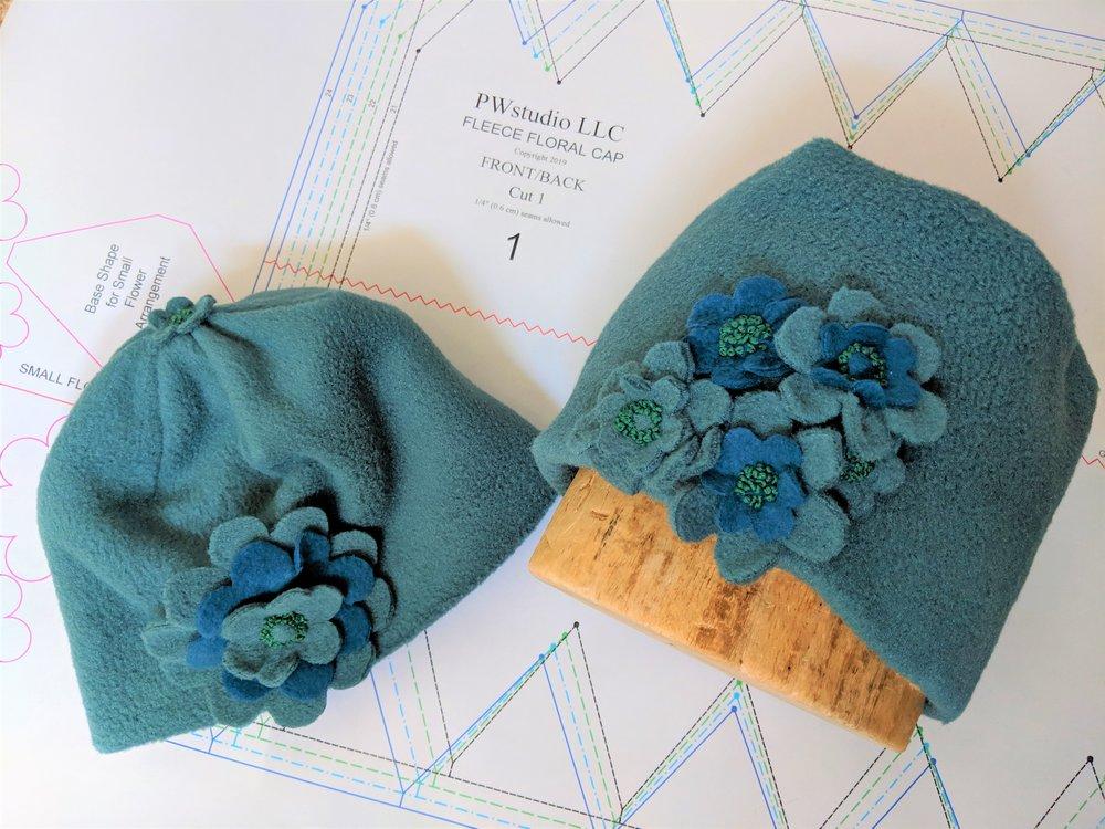 Fleece Floral Cap