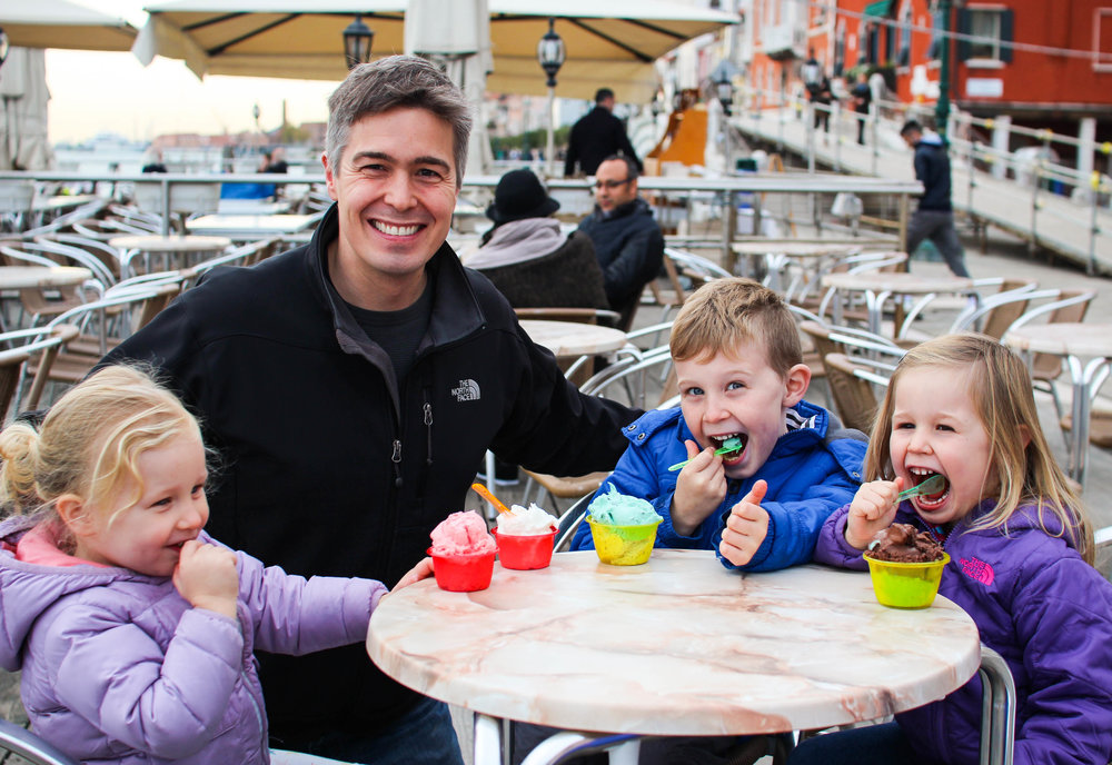 How many times did we eat gelato in Venice? Too many to count!