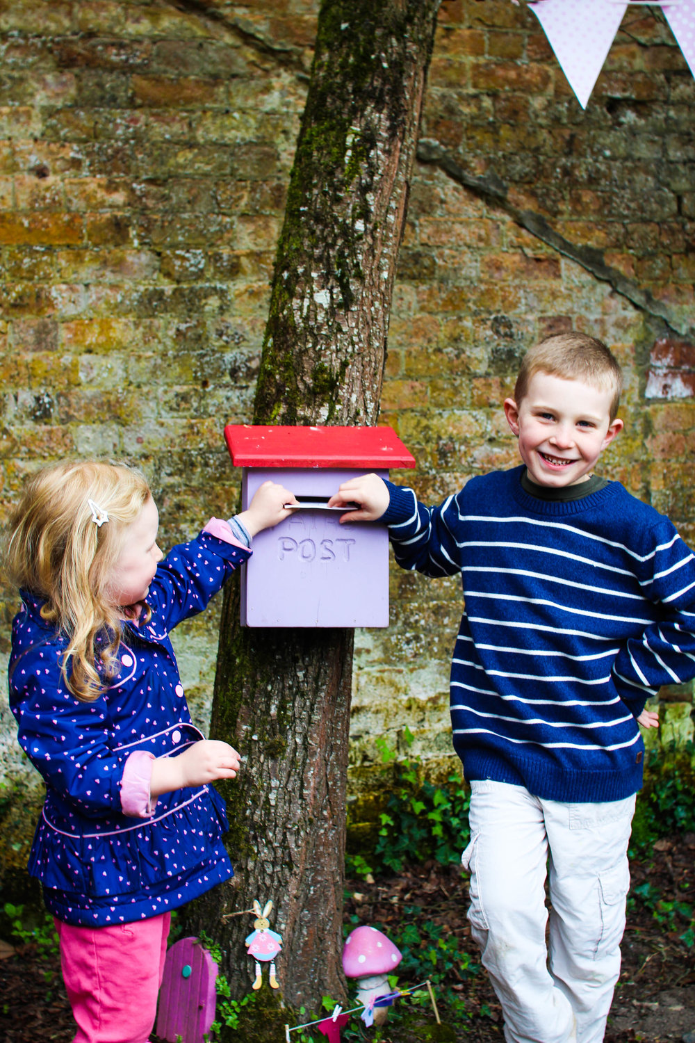 Posting letters to the fairies at Dromoland Castle