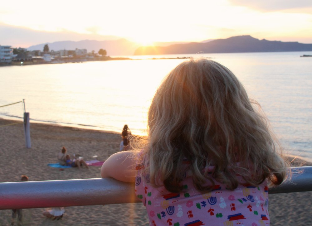 Watching the sun set over western Crete from the Ammos Hotel