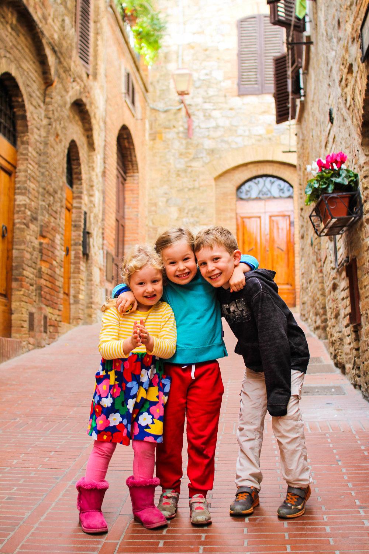 Enjoying the side streets of San Gimignano
