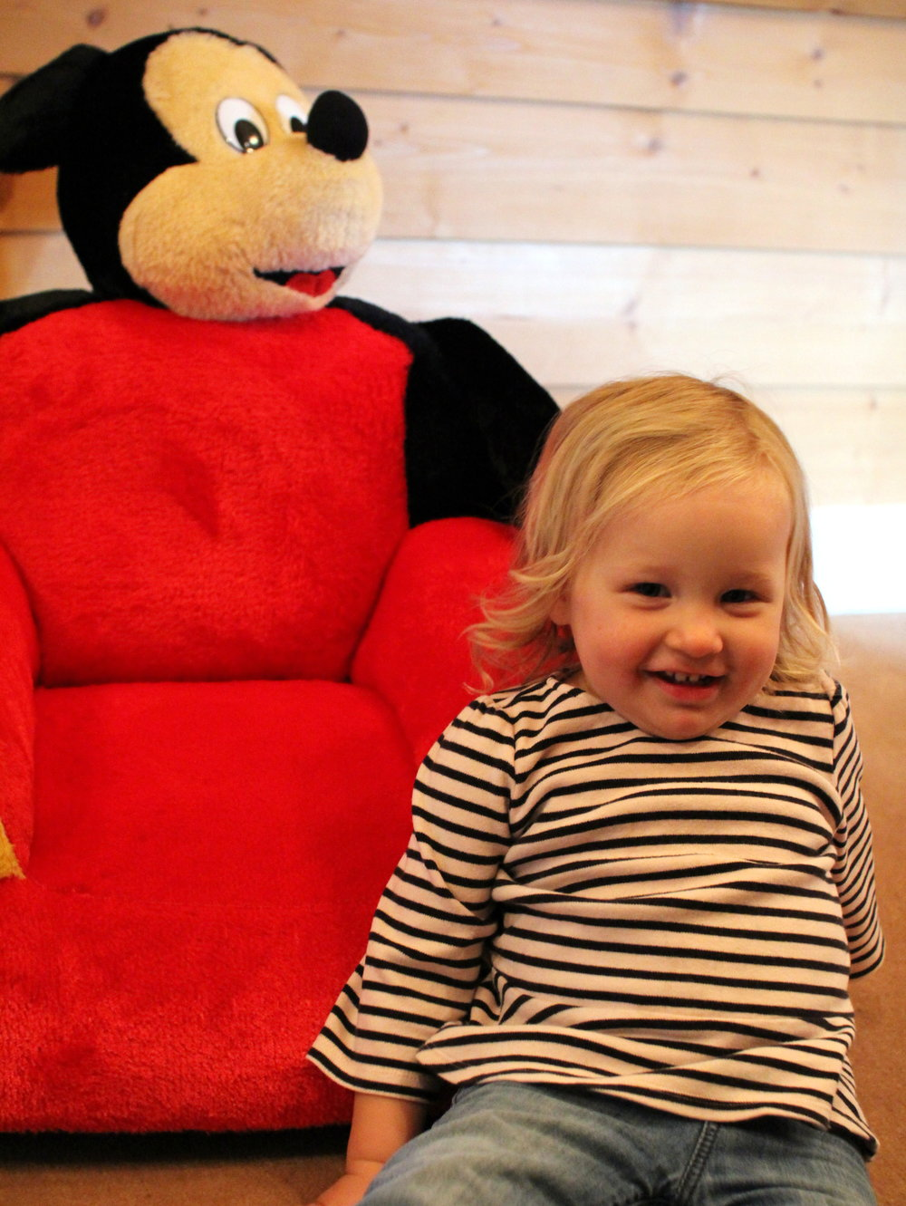 Mickey Mouse chairs in the family suite at Tatra Chalet