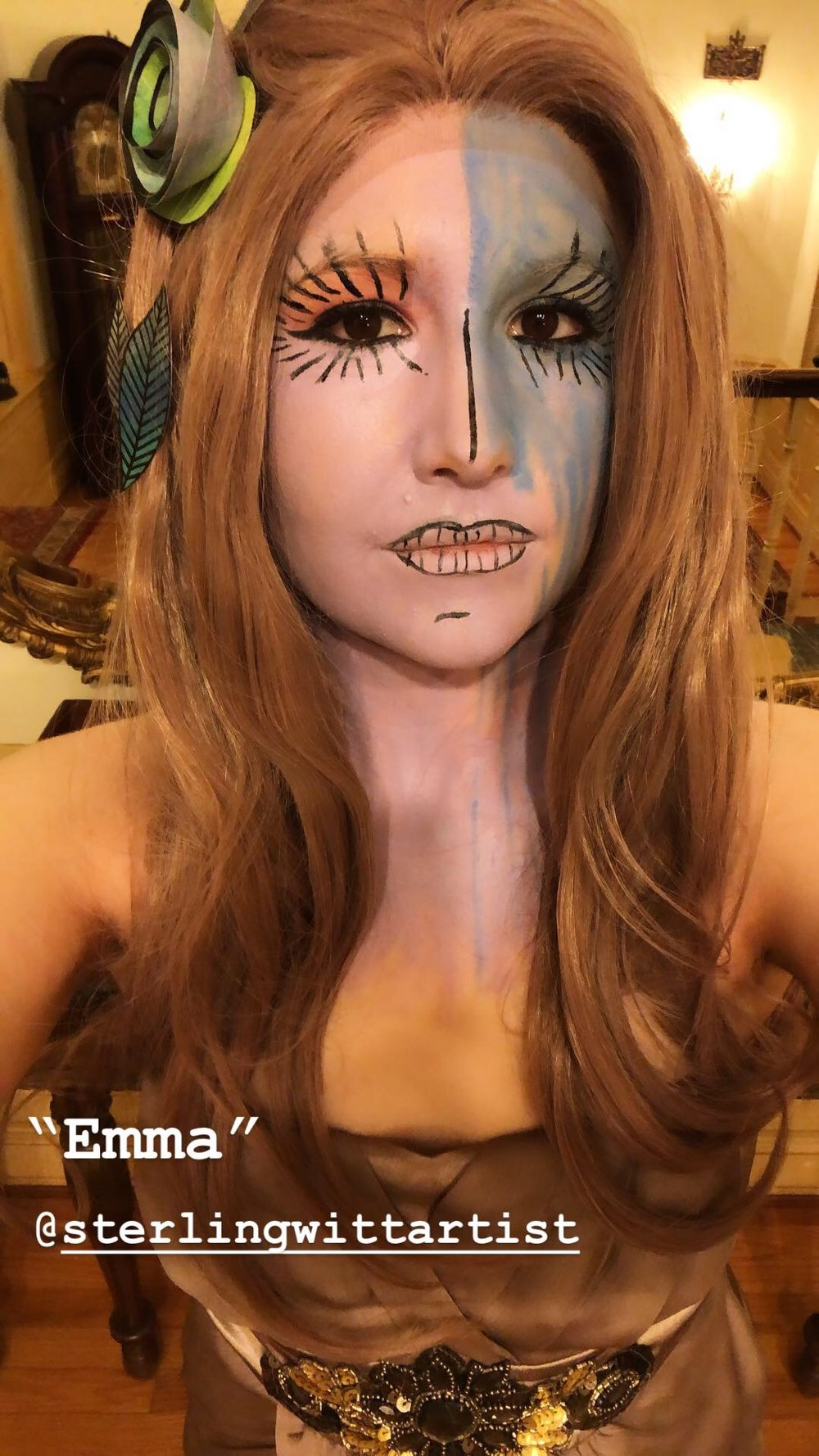 Emma Carter as Emma the painting.