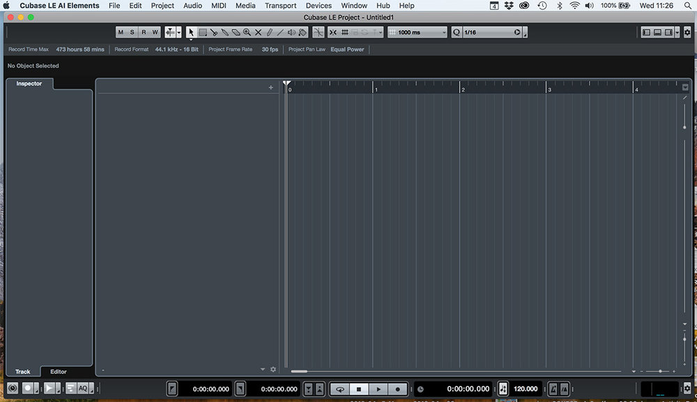 Empty Cubase project