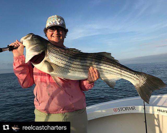 Jennifer with a quality daytime bass.  #reelcastcharters #minnkotamotors #minnkota #spotlock #humminbird #humminbirdfishing #humminbirdelectronics #MEGAimaging #stormrusa #fishshimano #suzukimarine #lighttacklefishing #stripedbassfishing #saltlife #fish #inshorefishing #seewhatsoutthere #saltwaterfishing #coastallife #gonefishing #boatlife #bassfishing #flyfishing