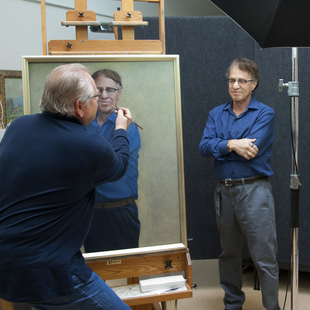 Ray Kurzweil sits for his portrait