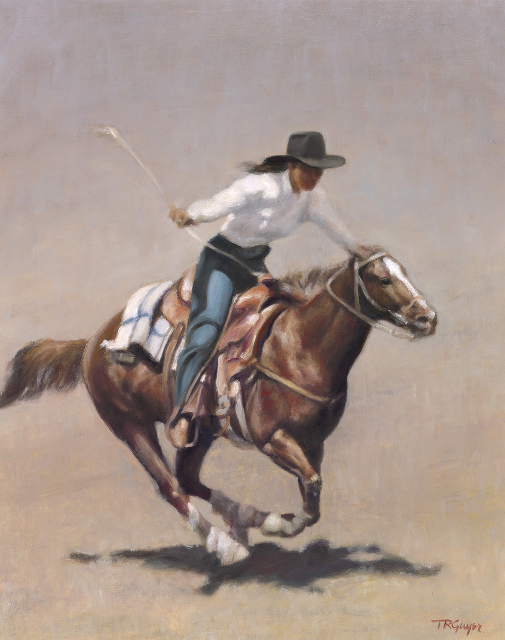 """Barrel Racer, Salinas Rodeo"" 20x16"" oil on linen"