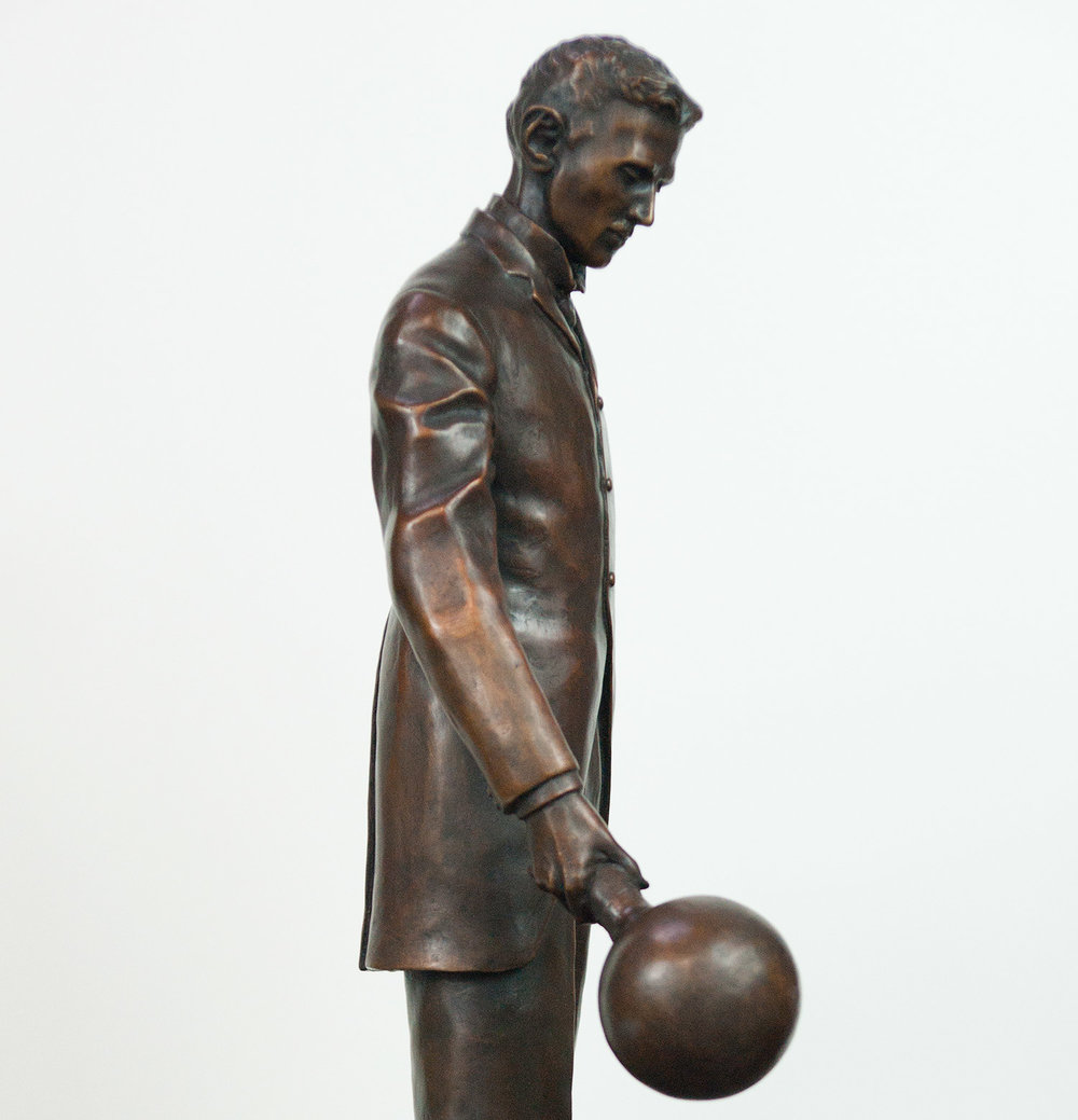 """Nikola Tesla 18"" Bronze"" Available"