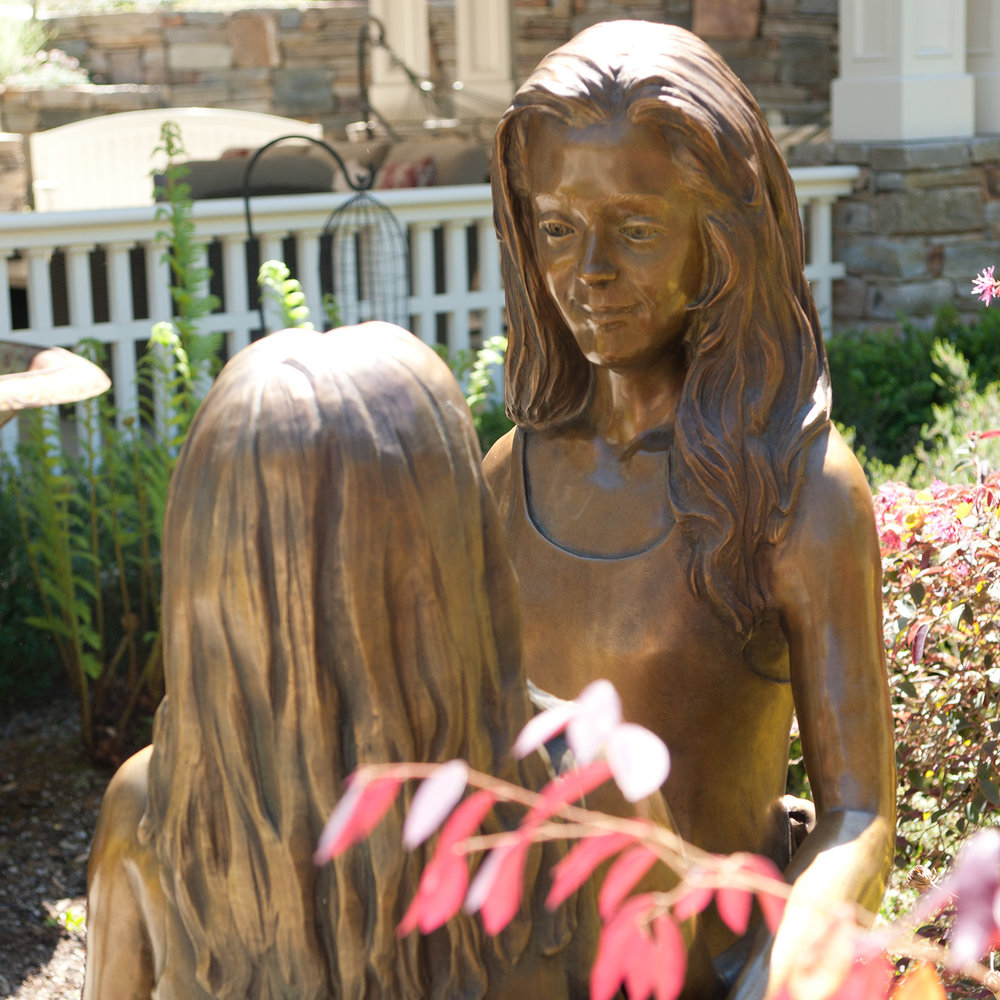 """Two Sisters Bronze"" Life-sized"