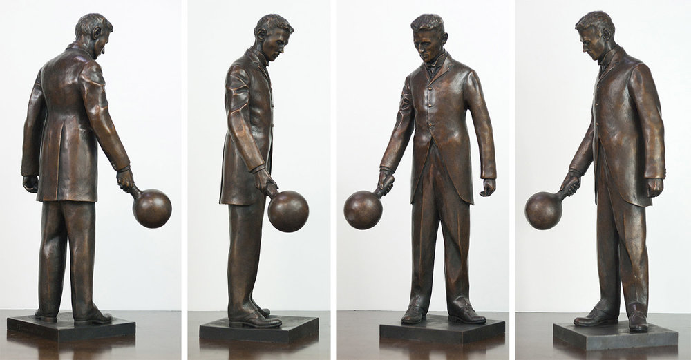 "The 18"" bronze replica for four different angles. The replica holds all the fine detail of the 7-foot statue"