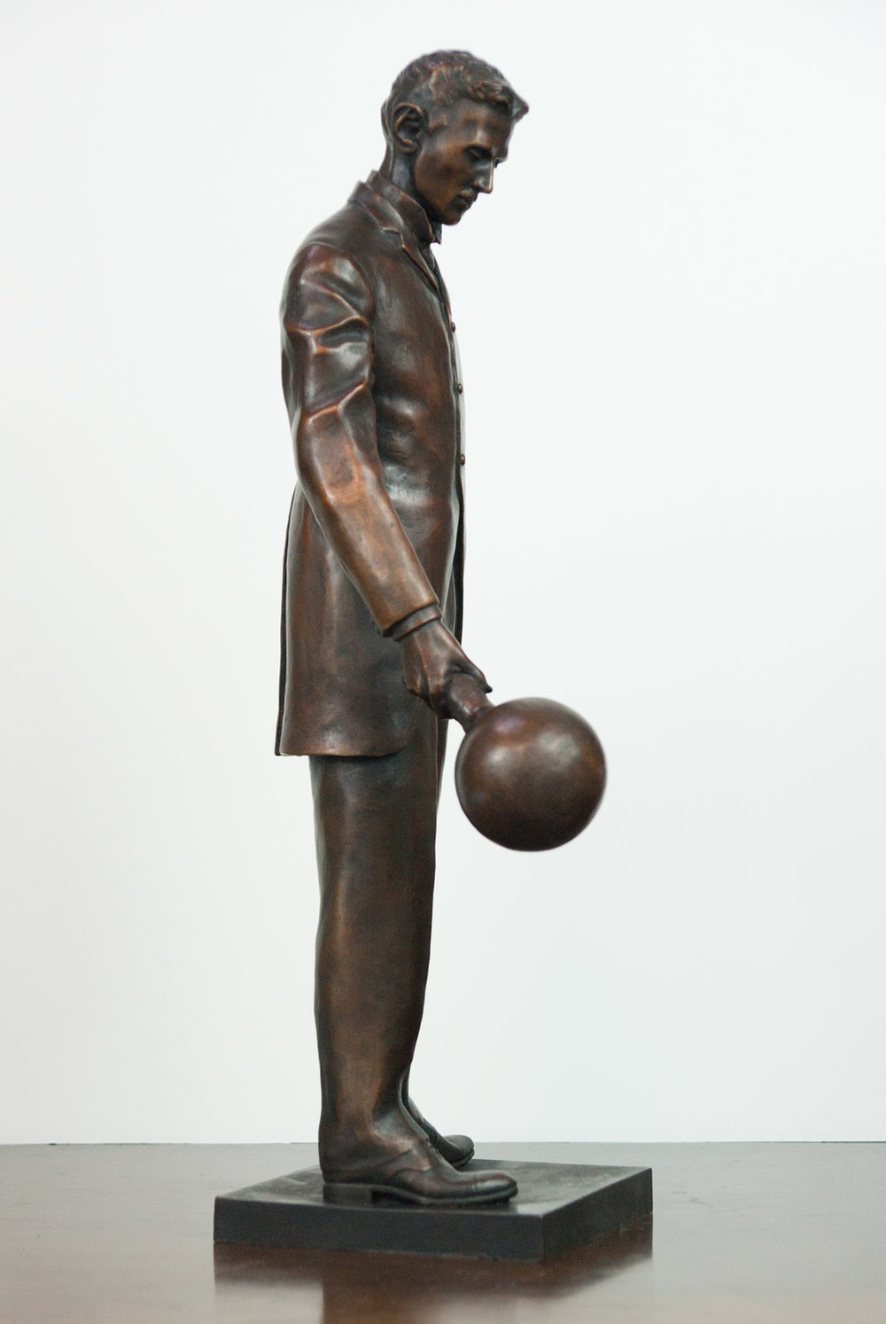 "18"" Bronze Replica of ""A Statue of Nikola Tesla in the Silicon Valley"""