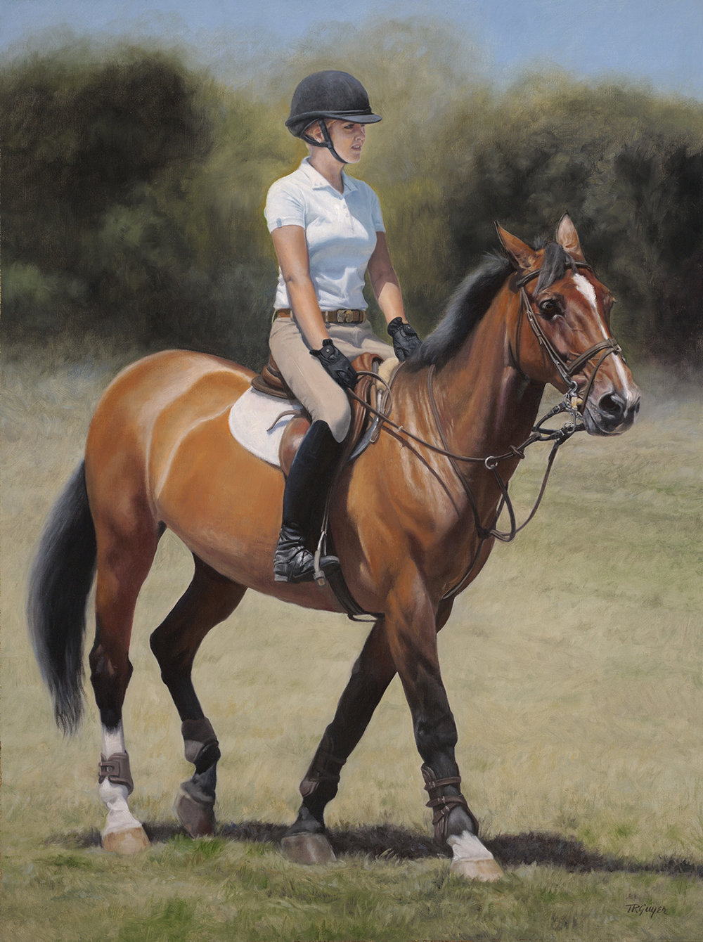 """ Hunter Jumper "" 40x30"" oil on linen"