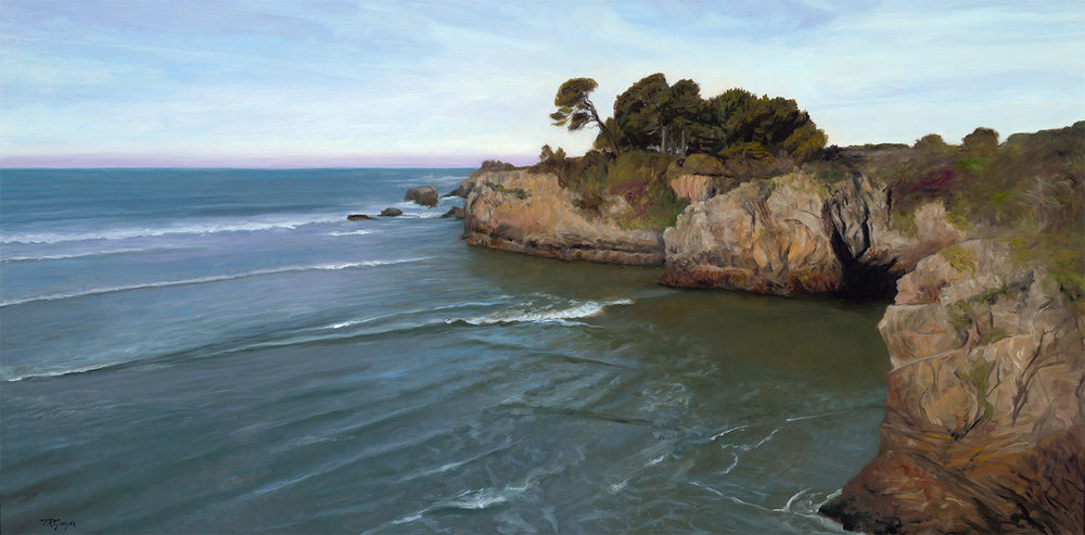"""California Coastline"" 24x48"" oil on linen"