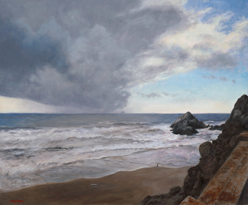 """Storm at Seal Rock"" 20x24"" oil on linen"