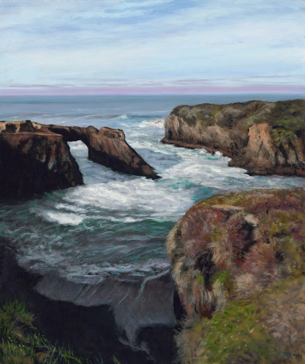 """Mendocino Arch"" 24x20"" oil on linen"
