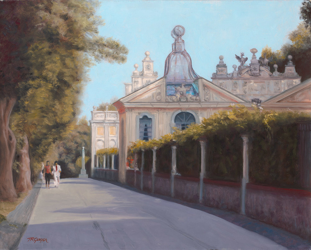 """ Borghese Gardens Aviary ""   16x20"" oil on linen"