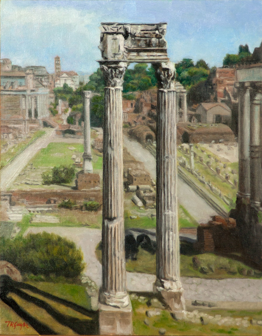 """ Roman Forum ""   14x11"" oil on linen over wood panel"