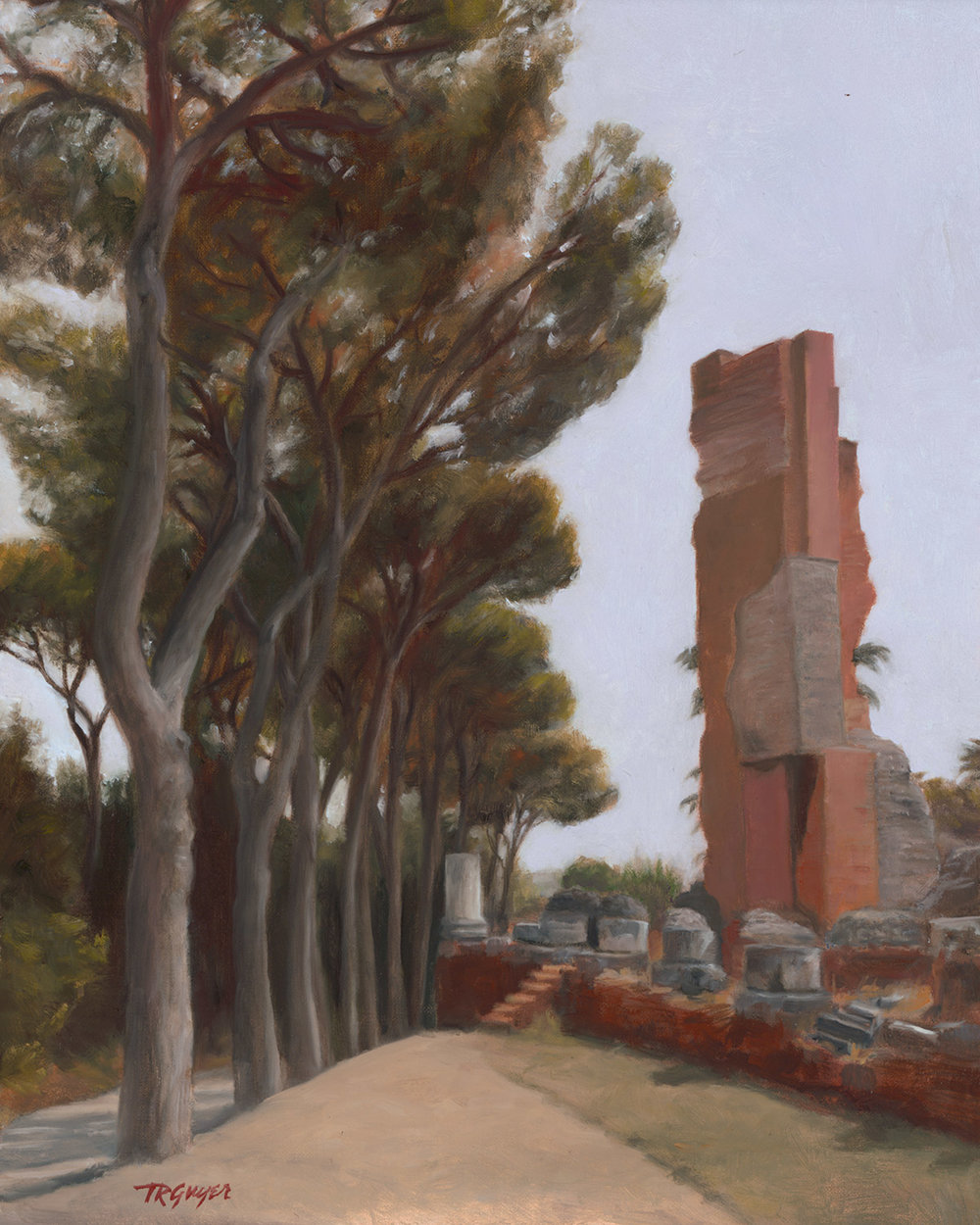 """Roman Ruins, Palatine Hill"" 14x11"" oil on linen over wood panel"