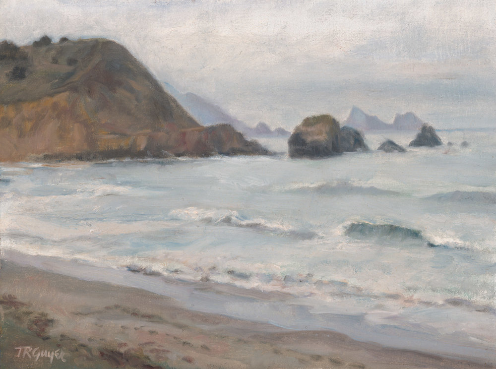 """Rockaway in Silver Tones"" 9x12"" oil on linen over wood panel"
