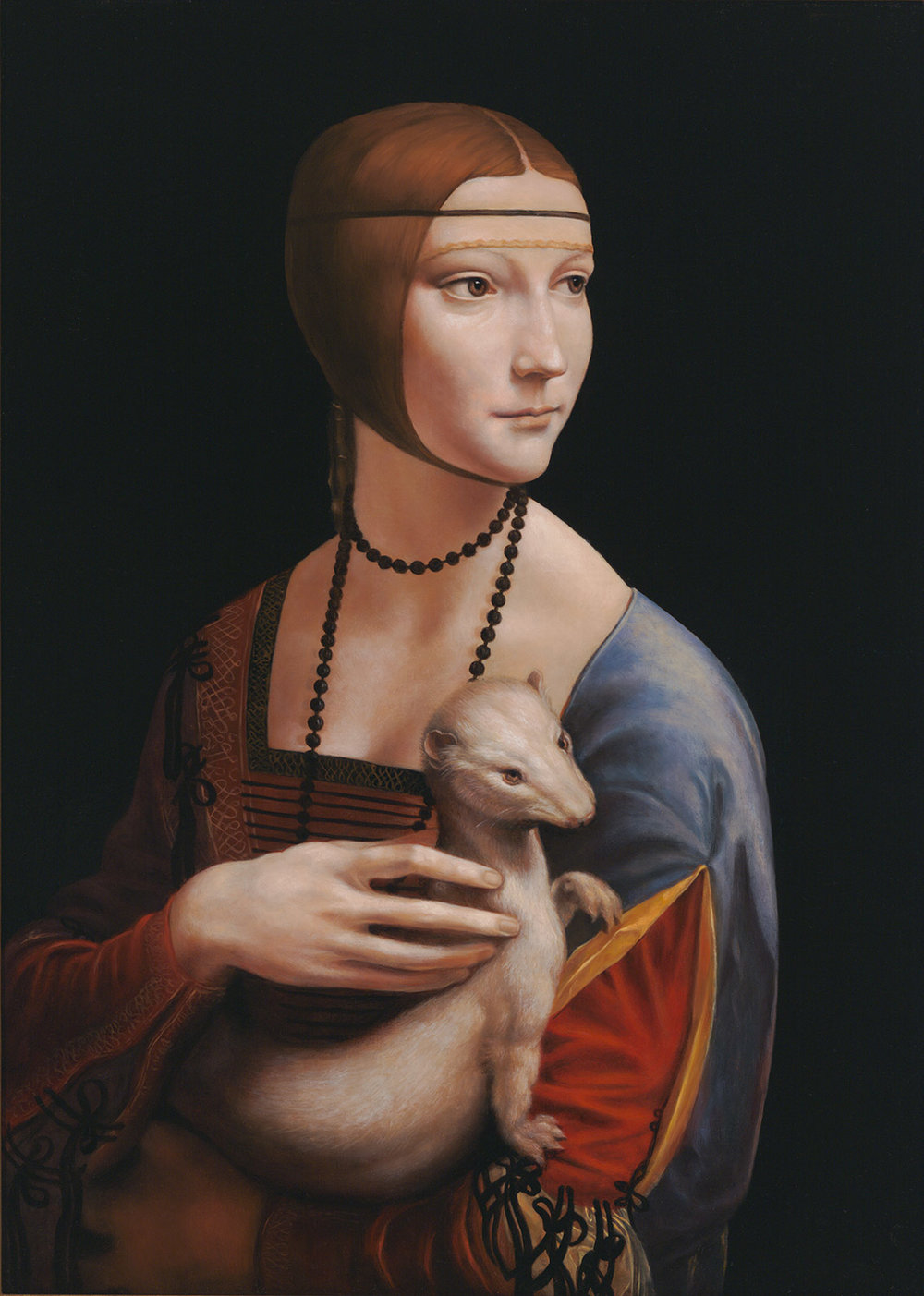 Master Copy of Leonardo da Vinci's Lady with an Ermine