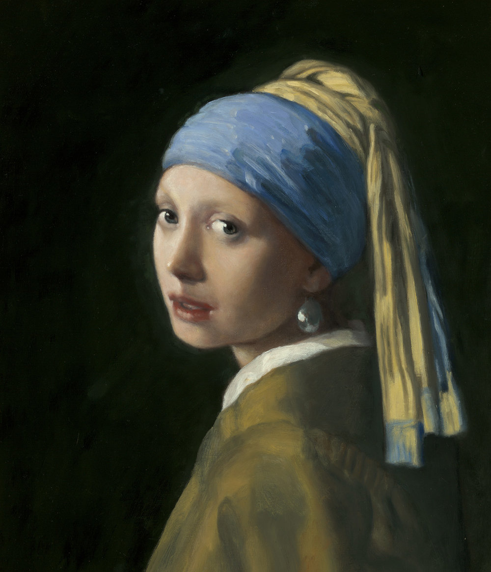 "Master Copy of Johannes Vermeer's ""Girl with a Pearl Earring"""