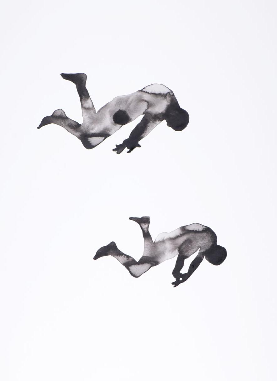 ONYIS MARTIN    Alienated 3 - 2017  75 x 55 - Acrylique sur papier