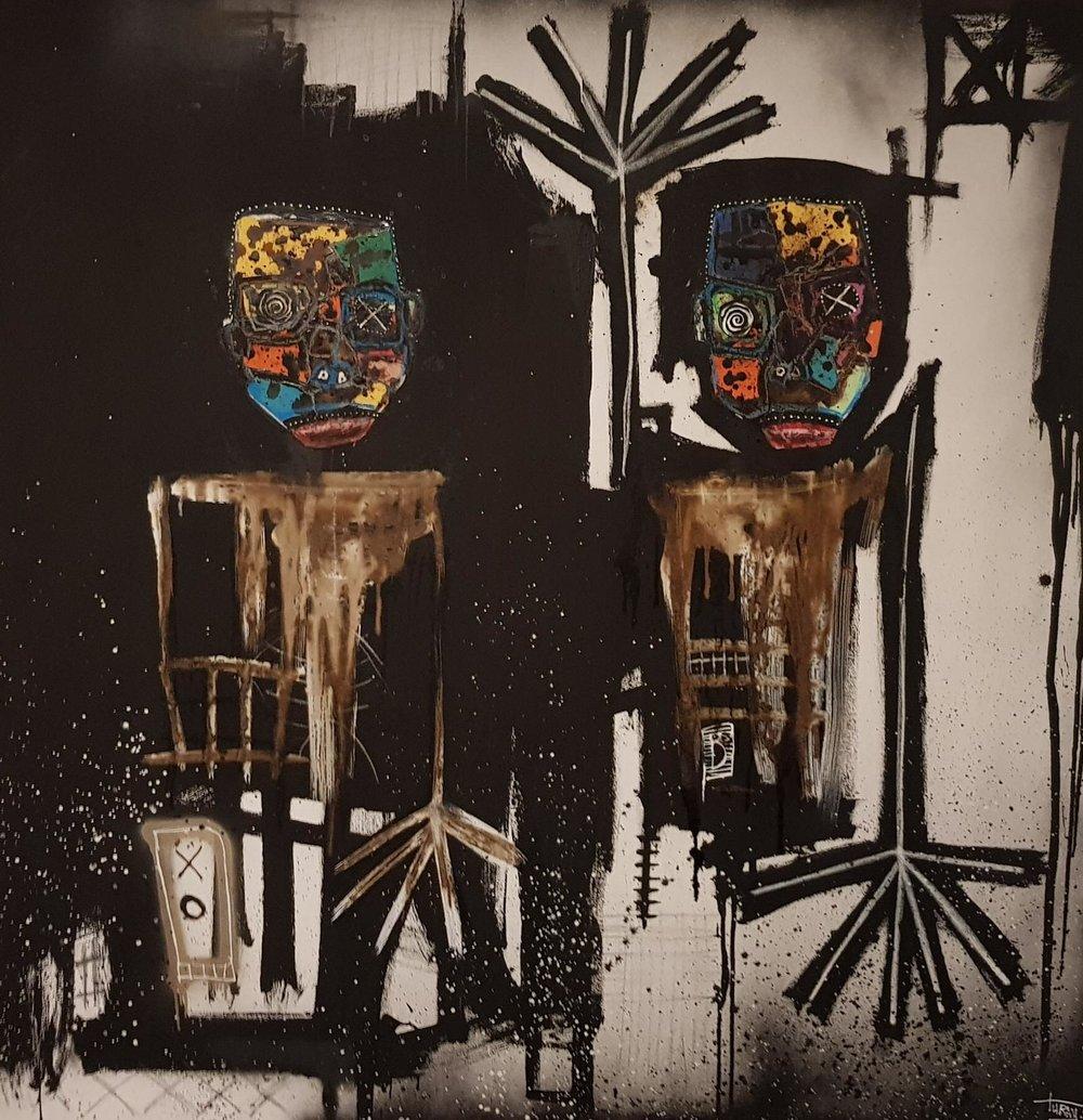 MEDERIC TURAY    No title, 2017   150 x 150 cm, techniques mixtes sur toile