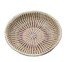 Traditional sweetgrass basket, originally used to separate rice seed from the chaff.
