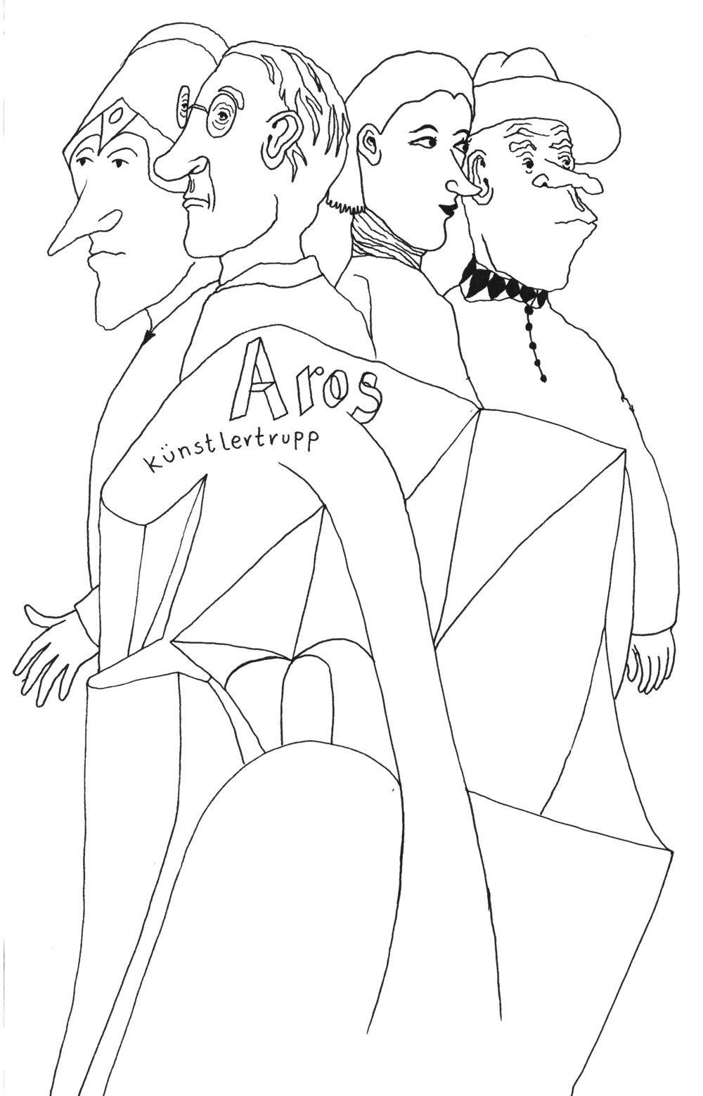 Aros Künstlertrupp propagiert das Motto Kunst ist eine Verunsicherungsanstalt.jpg