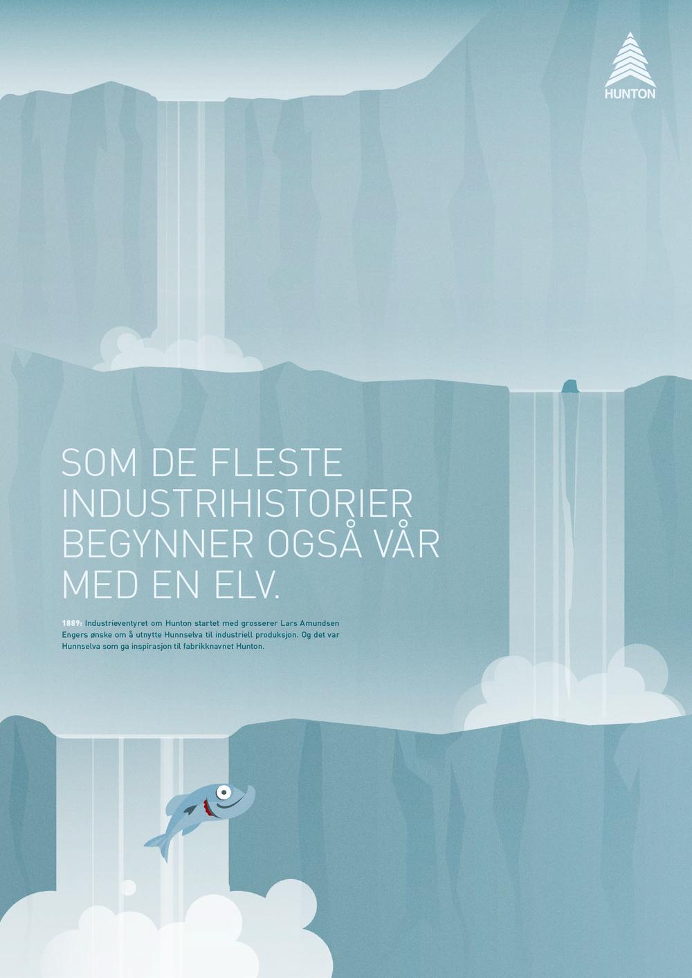 Illustrasjon for Hunton gjort for reklamebyrået Ernö.