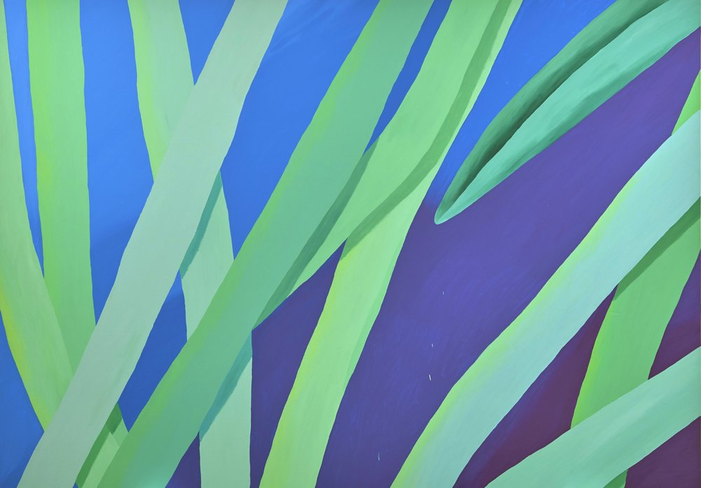 Grass #65 2017 acrylic on canvas 108 x 76 inches, photo by Tyler Kufs