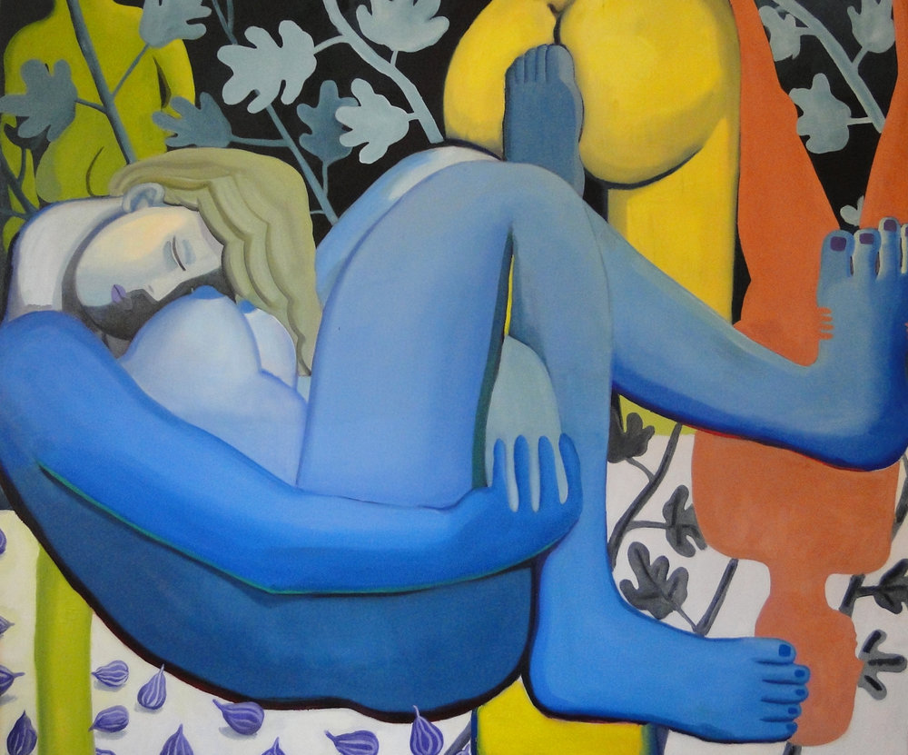 Sleeping oil on canvas 70 x 60 inches 2017
