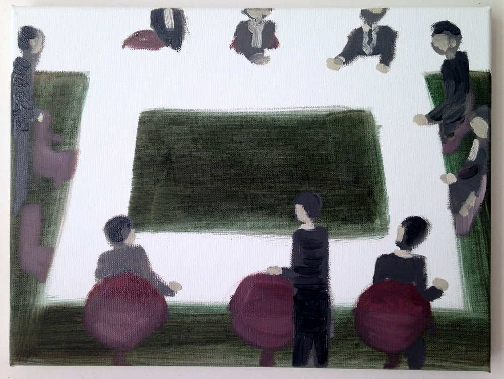Meeting of minds (State and Corporate) 30 x 40 cm 2016