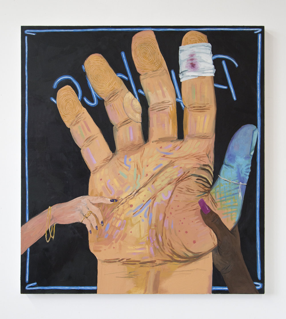 Palm Reader oil on canvas, 44 x 48 inches 2015