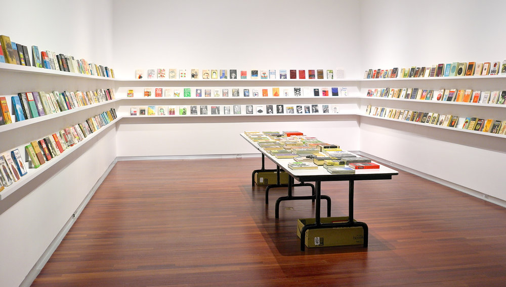 Untitled Project, Robert Smithson LIbrary and Book Club, oil paint on carved wood, 2014 - present .jpg