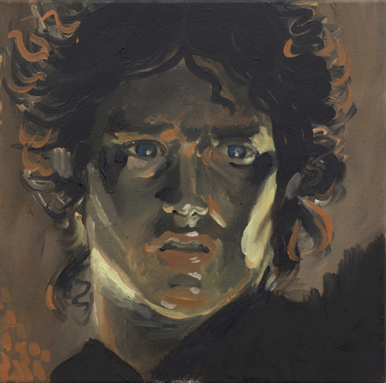 Frodo oil on canvas 12 x 12 inches 2017