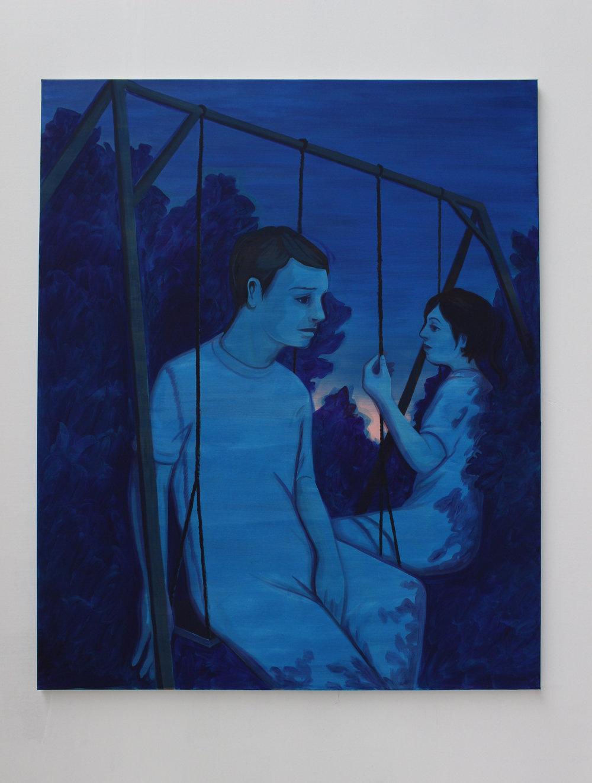 BALANCOIRE Oil on canvas 170 x 140 cm 2017