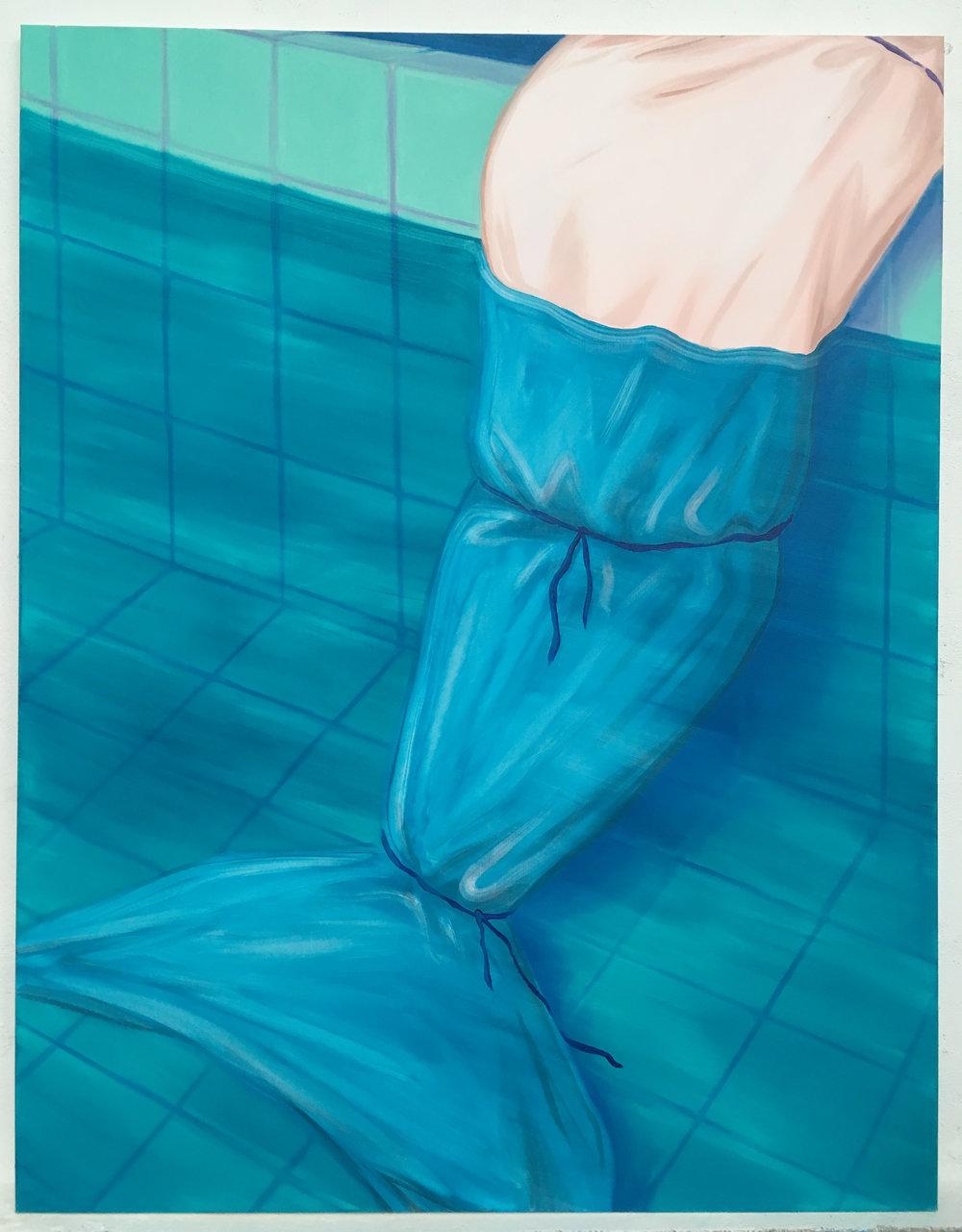 gros poisson Oil on canvas 145 x 115 cm 2017