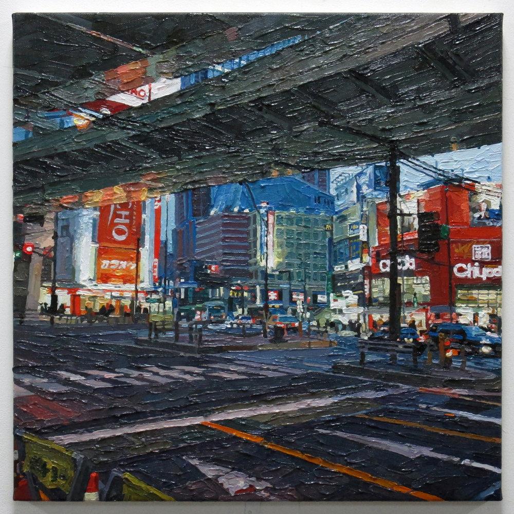 Tokyo (Sangenjaya) oil on canvas 41 x 41 cm 2017