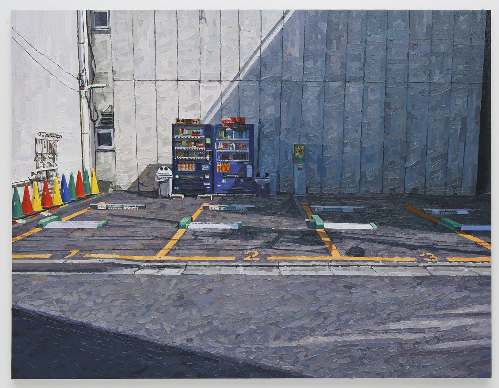 Parking lot oil on canvas 112 x 145.5 cm 2017 photo by Keizo Kioku