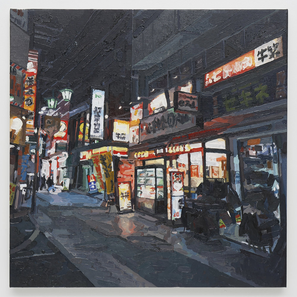 Tokyo (Komagome) oil on canvas 60.6 x 60.6 cm 2017 photo by Keizo Kioku