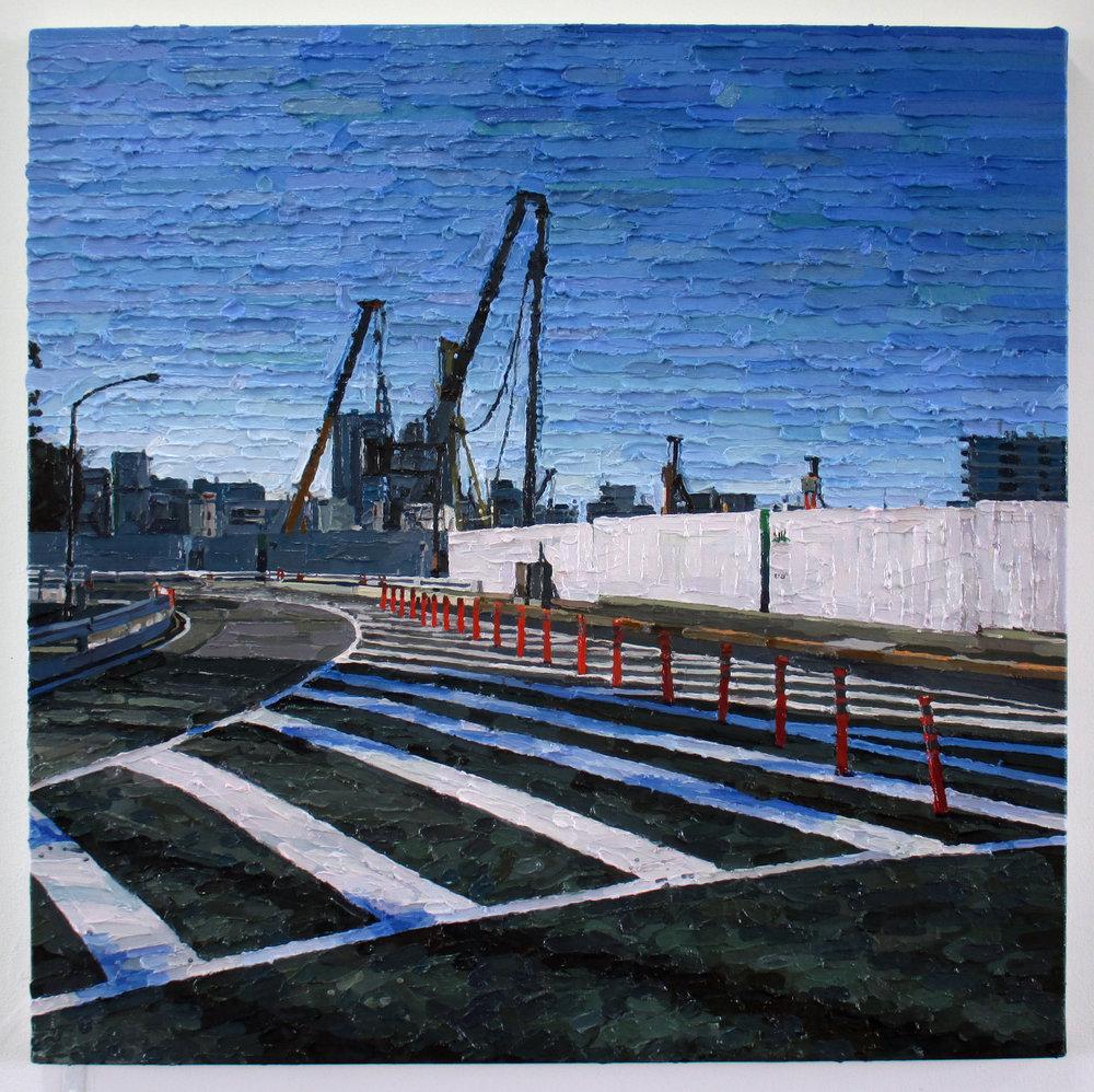 Tokyo (Meiji jingu gaien) oil on canvas 60.6 x 60.6 cm 2017